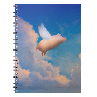 flying pig notebook