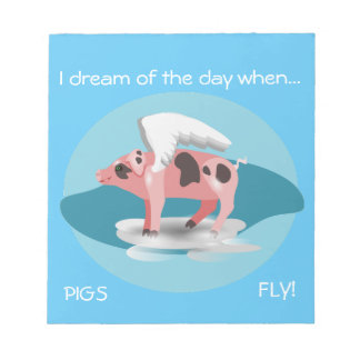 Flying Pig Notepad