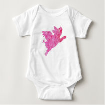 Flying Pig, One piece, Baby Bodysuit