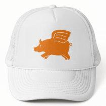 Flying Pig - Orange Trucker Hat