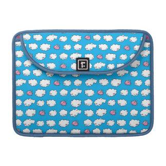 Flying Pig Patterned Sleeve For MacBooks