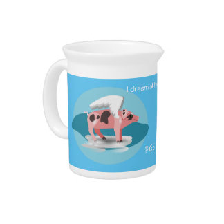 Flying Pig Pitcher