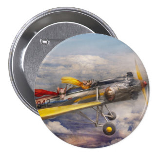 Flying Pig - Plane -The joy ride 3 Inch Round Button