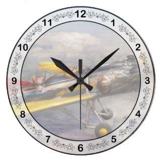 Flying Pig - Plane -The joy ride Round Wall Clock