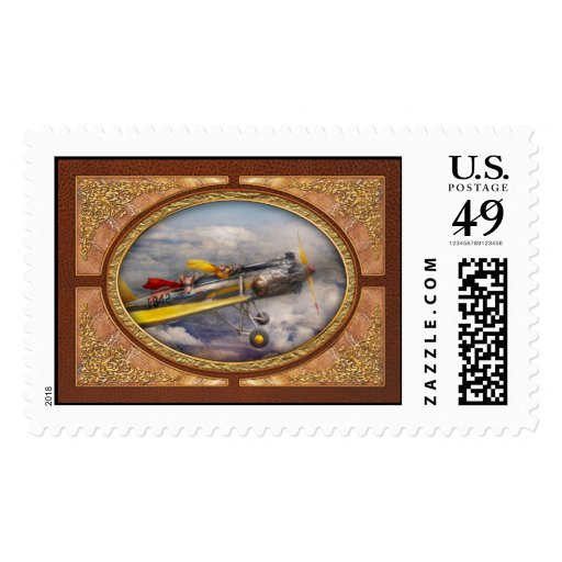Flying Pig - Plane -The joy ride Postage Stamp