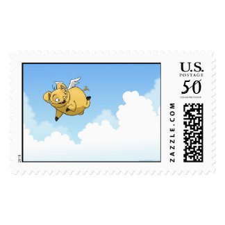 Flying Pig Postage Stamps