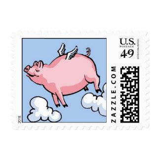 Flying Pig Postage Stamps