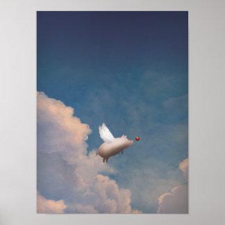 flying pig print