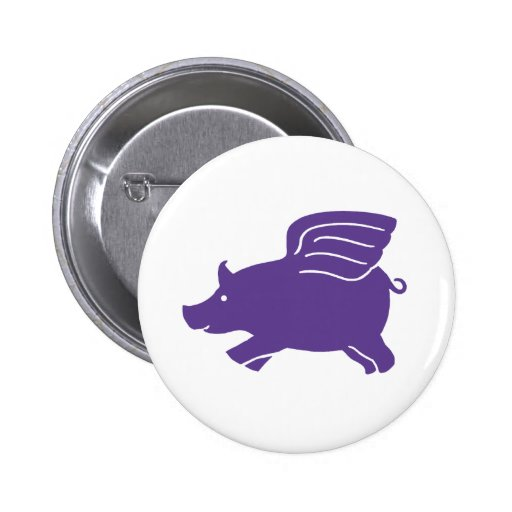 Flying Pig  -  Purple Buttons