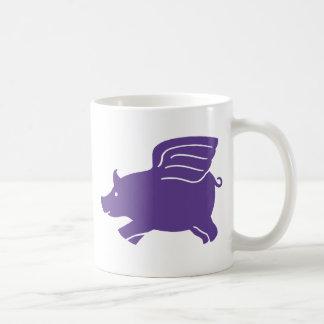 Flying Pig  -  Purple Coffee Mug