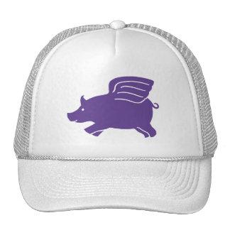 Flying Pig  -  Purple Mesh Hats