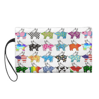 flying pig purse wristlet clutches