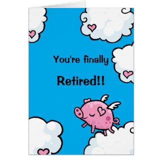 Flying Pig retirement card