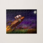 Flying Pig - Rocket - To the moon or bust Jigsaw Puzzles