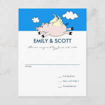 Flying Pig RSVP card