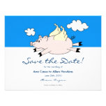 Flying Pig Save the Date Personalized Invites