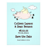 Flying Pig Save the Date, Solid Back Invitation