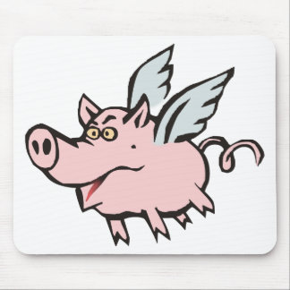 flying pig sow flying pig hog mousepads