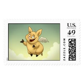 Flying Pig Stamp