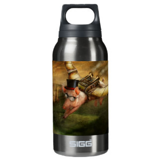 Flying Pig - Steampunk - The flying swine Insulated Water Bottle
