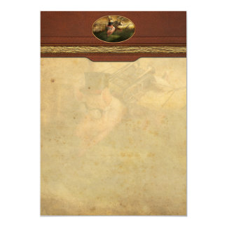 Flying Pig - Steampunk - The flying swine 5x7 Paper Invitation Card