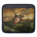 Flying Pig - Steampunk - The flying swine Sleeve For iPads