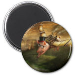 Flying Pig - Steampunk - The flying swine Refrigerator Magnets