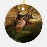 Flying Pig - Steampunk - The flying swine Ornament