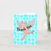Flying Pig Thank You Card