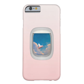 flying pig through airplane window iPhone 6 case