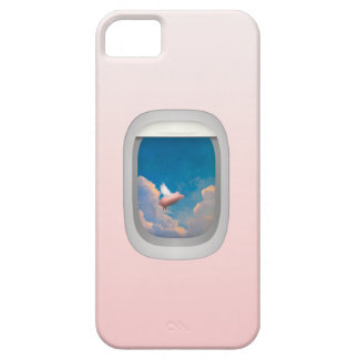 flying pig through airplane window iphone case iPhone 5 case