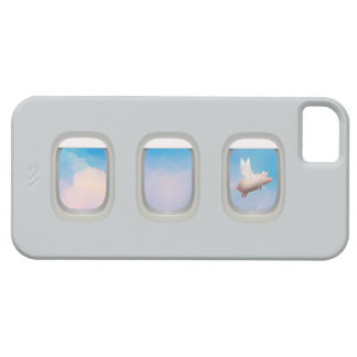 flying pig through airplane window iPhone SE/5/5s case