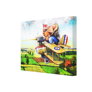 Flying Pig Wrapped Canvas