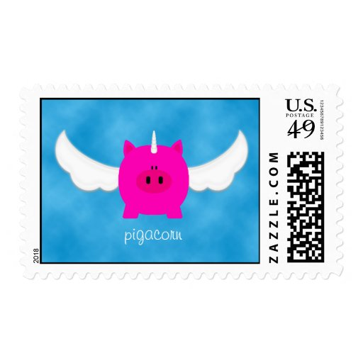 Flying Pigacorn Postage