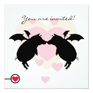 Flying piggies card