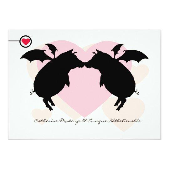 Flying piggies card