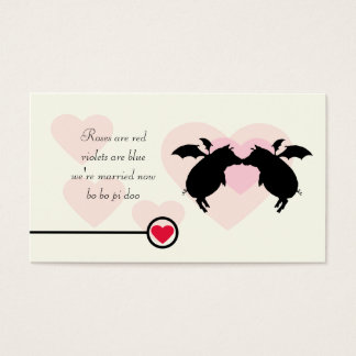 Flying piggies gift tag