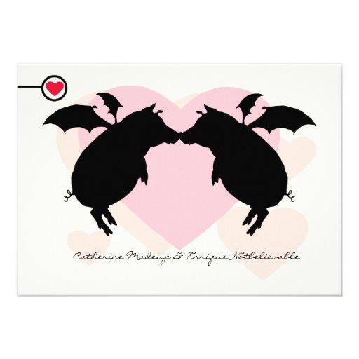 Flying piggies invites
