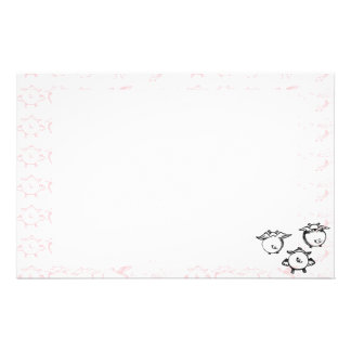 Flying Piggies Personalized Stationery