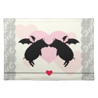 Flying piggies placemat