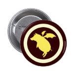 Flying piggy 2 inch round button