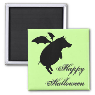 Flying piggy 2 inch square magnet
