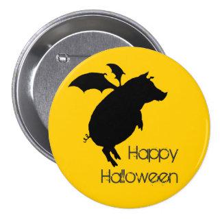 Flying piggy 3 inch round button