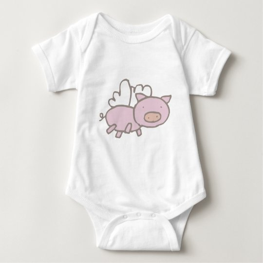 Flying Piggy Baby Bodysuit