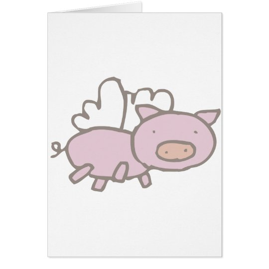 Flying Piggy Card
