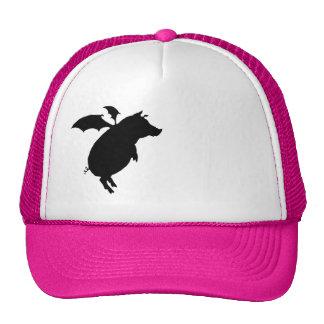 Flying piggy trucker hat