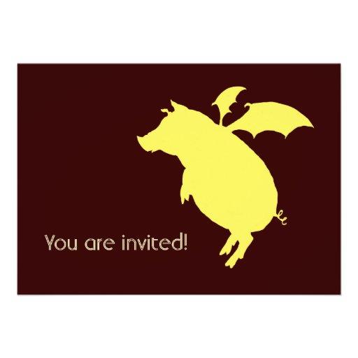 Flying piggy custom announcements