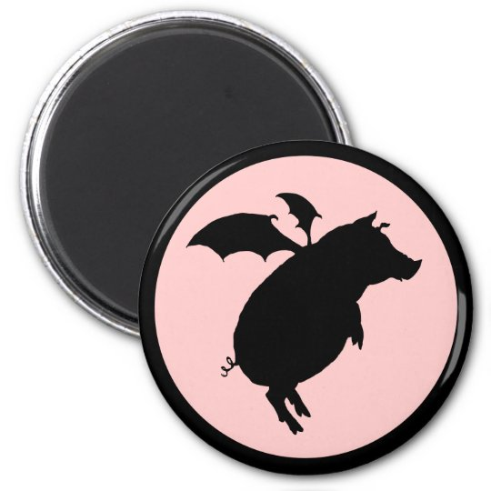 Flying piggy magnet