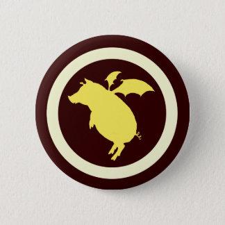 Flying piggy pinback button