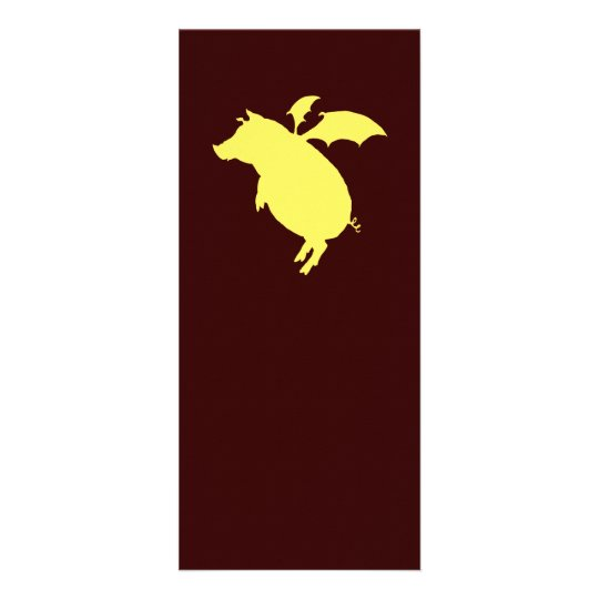 Flying piggy rack card